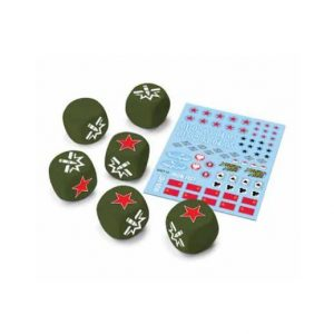 Gale Force Nine World of Tanks: Miniature Game  SALE! World of Tanks Soviet Dice & Decal Set - WOT12 - 9781947494343