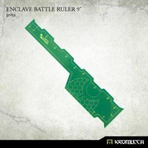 Kromlech   Tapes & Measuring Sticks Enclave Battle Ruler 9in [green] (1) - KRGA062 - 5902216116597