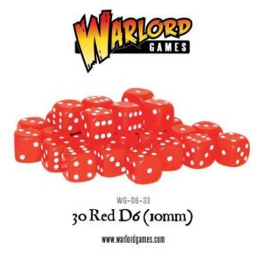 Warlord Games   D6 30 Red D6 (10mm) - WG-D6-33 - 5060200848272