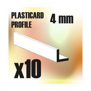 Green Stuff World   Plasticard ABS Plasticard - Profile ANGLE-L 4mm - 8436554366248ES - 8436554366248