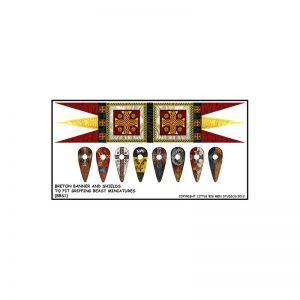 Gripping Beast SAGA  SAGA Breton Banner & Shield Transfers - LBMS SAGA011 -