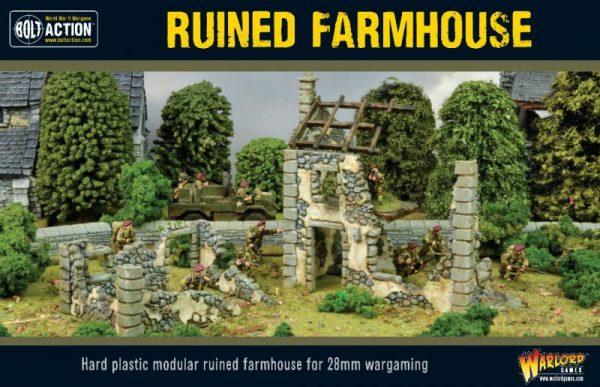 Warlord Games Bolt Action | Pike & Shotte | Black Powder  Warlord Games Terrain Ruined Farmhouse - 802010004 - 5060572500006