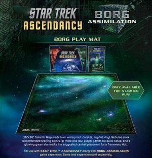 Battlefront Star Trek: Ascendancy  Star Trek Ascendancy Star Trek Ascendancy: Borg Play Mat - ST028 - 9781945625947