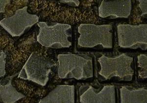 Baker Bases   Ruined Flagstones Flagstones: 40mm Square Bases (5) - CB-RF-02-40M - CB-RF-02-40M