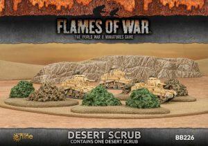 Gale Force Nine   Battlefield in a Box Flames of War: Desert Scrub - BB226 - 9420020235755