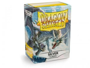 Dragon Shield   Dragon Shield Dragon Shield Sleeves Silver (100) - DS100S - 5706569100087