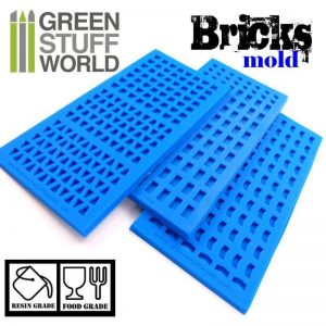 Green Stuff World   Mold Making Silicone molds - BRICKs - 8436554369065ES - 8436554369065