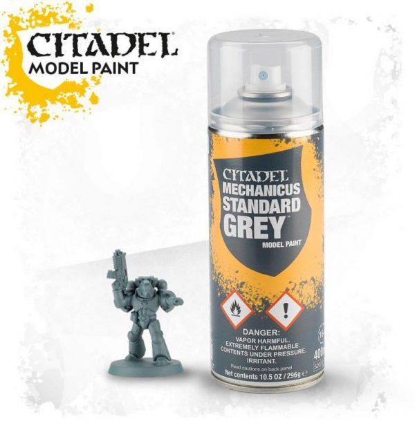 Games Workshop   Spray Paint GW Spray: Mechanicus Standard Grey - 99209999073 - 5011921154555