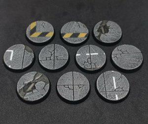 Baker Bases   Concrete Concrete: 28mm Round Bases (10) - CB-CN-01-28M - CB-CN-01-28M
