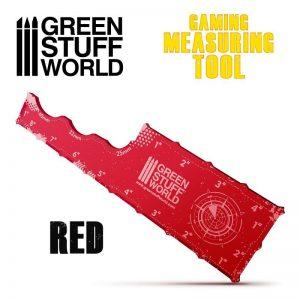 Green Stuff World   Tapes & Measuring Sticks Gaming Measuring Tool - Red - 8435646500980ES - 8435646500980