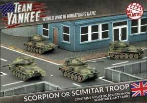 Battlefront Team Yankee  British Scorpion or Scimitar Troop (Plastic) - TBBX03 - 9420020231740