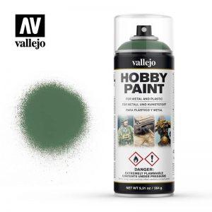 Vallejo   Spray Paint AV Spray Primer: Fantasy Color - Sick Green 400ml - VAL28028 - 8429551280280
