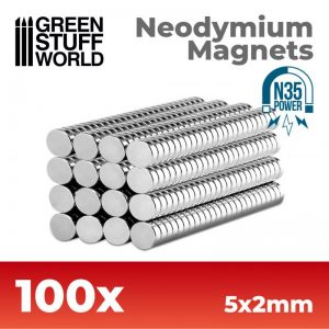 Green Stuff World   Magnets Neodymium Magnets 5x2mm - 100 units (N35) - 8436554365623ES - 8436554365623