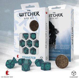 Q-Workshop   RPG / Polyhedral The Witcher Dice Set: Yennefer - Sorceress Supreme - SWYE3W - 5907699496075