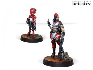 Corvus Belli Infinity  Nomads Zoe & Pi-Well, Special Clockmakers Team (Engineer & Remote) - 280594-0715 - 2805940007151