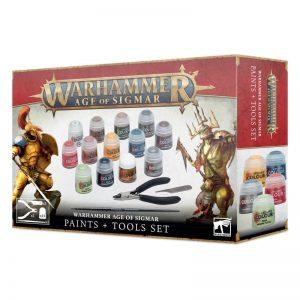 Games Workshop Age of Sigmar  Citadel Tools Age of Sigmar: Paints + Tools Set - 52170299001 - 5011921157471