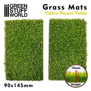 Green Stuff World   Plants & Flowers Grass Mat Cutouts - Yellow Flower Field - 8436574508406ES - 8436574508406