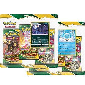 Pokemon Pokemon - Trading Card Game  Pokemon Pokemon TCG: Sword & Shield 7 Evolving Skies 3-Pack - POK80881 - 820650808814