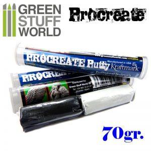 Green Stuff World   Modelling Putty & Green Stuff ProCreate Putty 70gr. - 8436554365227ES - 8436554365227