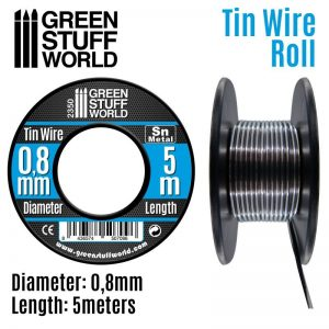 Green Stuff World   Metal Sheets & Wire Flexible tin wire roll 0.8mm - 8436574507096ES - 8436574507096