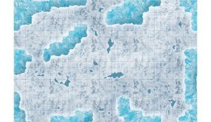 Gale Force Nine Dungeons & Dragons  D&D Game Mats D&D: Caverns of Ice Encounter Map - BB628 - 9420020252394
