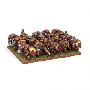 Mantic Kings of War  Dwarf Armies Dwarf Ironclad Regiment - MGKWD21-1 - 5060208862218