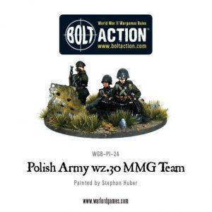 Warlord Games Bolt Action  Poland (BA) Polish Army wz.30 MMG team - WGB-PI-24 - 5060200849606