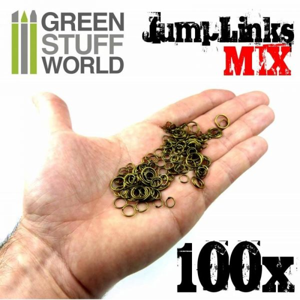 Green Stuff World   Modelling Extras Jumplink Rings Mix - 8436554362202ES - 8436554362202
