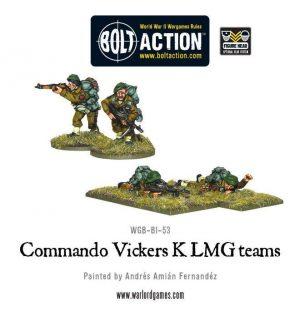 Warlord Games Bolt Action  Great Britain (BA) Commando Vickers K LMG Teams - WGB-BI-53 - 5060200844113