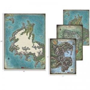 Gale Force Nine Dungeons & Dragons  D&D Game Mats D&D: Tomb of Annihilation Map Set - GFN72783 - 9420020238510