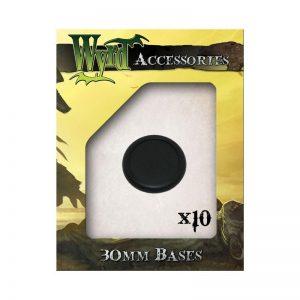 Wyrd   Malifaux Accessories Black 30mm Premium Plastic Bases - 10 Pack - WYR0017 - 813856010754