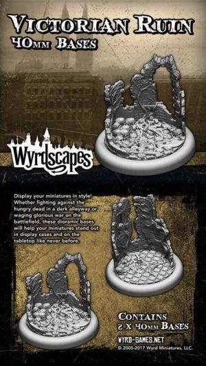 Wyrd   Victorian Bases Wyrdscapes Victorian 40mm Bases - 2 Pack - WYRWS002 - 813856018521