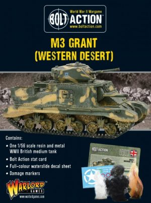 Warlord Games Bolt Action  Great Britain (BA) M3 Grant (Western Desert) - 402411007 - 5060572501027
