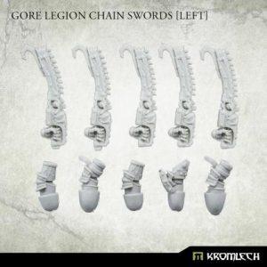 Kromlech   Legionary Conversion Parts Gore Legion Chain Swords [left] (5) - KRCB240 - 5902216119970