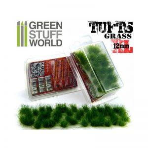 Green Stuff World   Tufts Grass TUFTS XL - 12mm self-adhesive - DARK GREEN - 8436554363490ES - 8436554363490