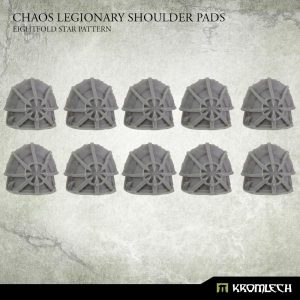 Kromlech   Heretic Legionary Conversion Parts Chaos Legionary Shoulder Pads: Eightfold Star (10) - KRCB232 - 5902216118478