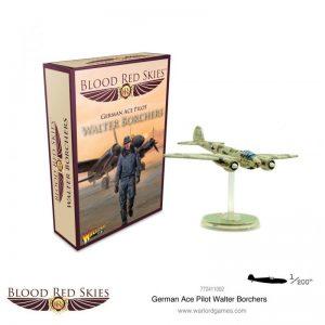 Warlord Games Blood Red Skies  Blood Red Skies Blood Red Skies: German Ace Pilot Walter Borchers - 772411002 - 5060572505643