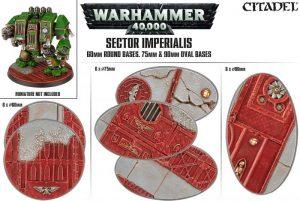 Games Workshop   Games Workshop Bases Sector Imperialis Base Pack (60mm, 75mm, 90mm) - 99120199041 - 5011921073177