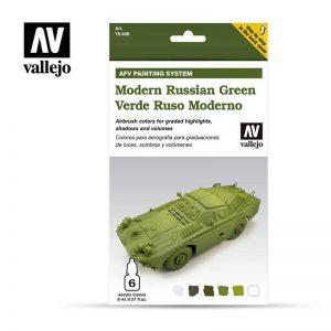 Vallejo   Model Air Primers AV Armour Set - AFV Modern Russian Green - VAL78408 - 8429551784085