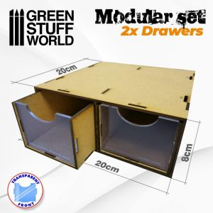 Green Stuff World   Paint Racks Modular Set 2x Drawers - 8436574505283ES - 8436574505283
