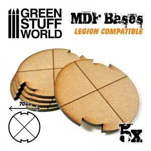 Green Stuff World   MDF Bases MDF Bases - Round 70mm (Legion) - 8435646502304ES - 8435646502304
