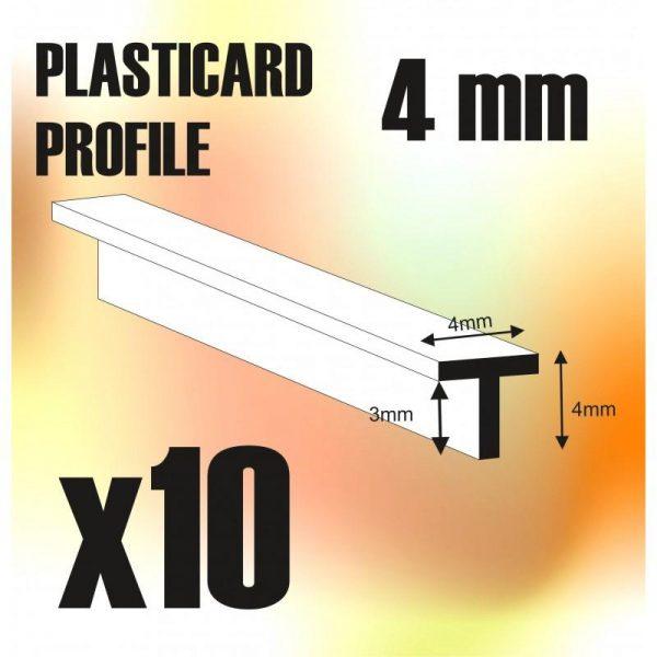 Green Stuff World   Plasticard ABS Plasticard - T-Profile 4mm - 8436554368099ES - 8436554368099