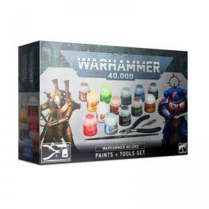 Games Workshop Warhammer 40,000  Paint Sets Warhammer 40,000 Paints & Tools Set - 99170199014 - 5011921152773