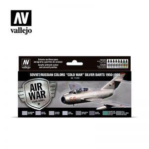 Vallejo   Model Air AV Vallejo Model Air Set - Soviet Silver Darts 1950-1980 - VAL71610 - 8429551716109