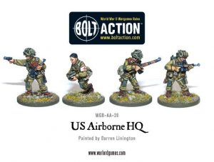 Warlord Games Bolt Action  USA (K47) US Airborne HQ - WGB-AA-28 - 5060200847343