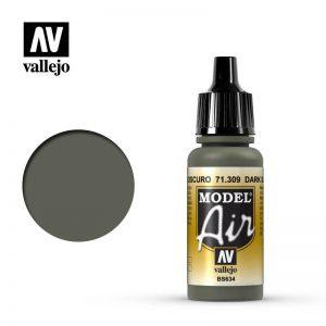 Vallejo   Model Air Model Air: Dark Slate Grey - VAL71309 - 8429551713092
