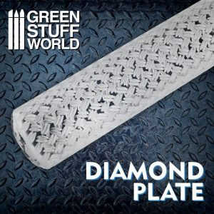 Green Stuff World   Rolling Pins Rolling Pin DIAMOND PLATE - 8436574508680ES - 8436574508680