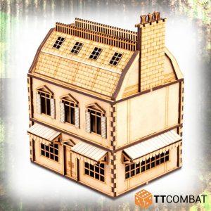 TTCombat   World War Scenics 25mm City Rowhouse Cafe - TTSCW-WAR-047 - 5060570134876