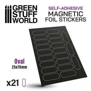 Green Stuff World   Magnets Oval Magnetic Sheet SELF-ADHESIVE - 25x70mm - 8435646503523ES - 8435646503523