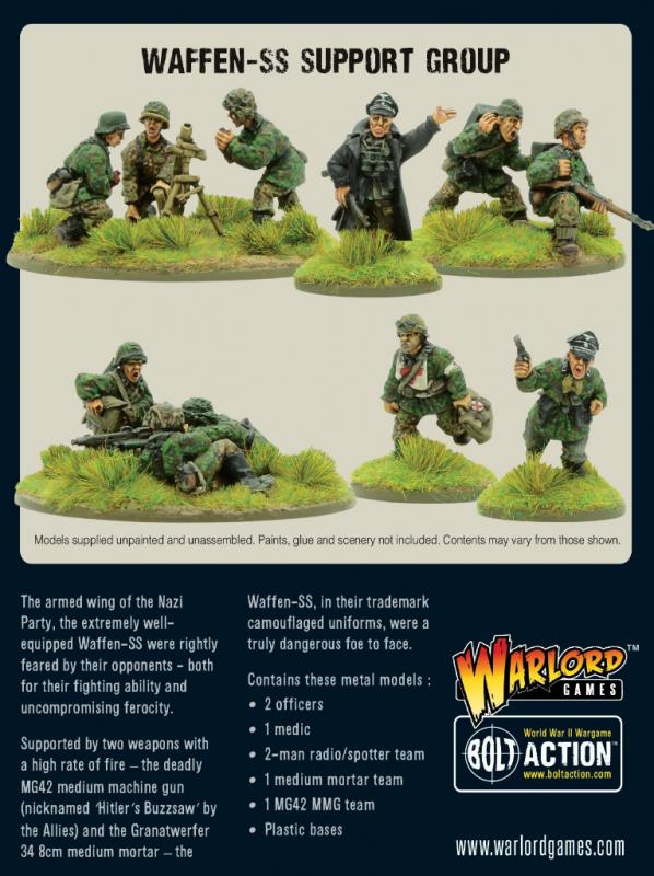 Warlord Games Bolt Action  Germany (BA) Waffen-SS support group - 402212107 - 5060572503564